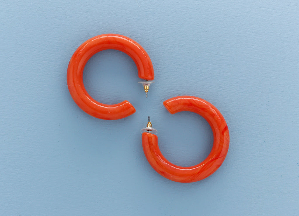 Orange Gradient Hoop Earrings