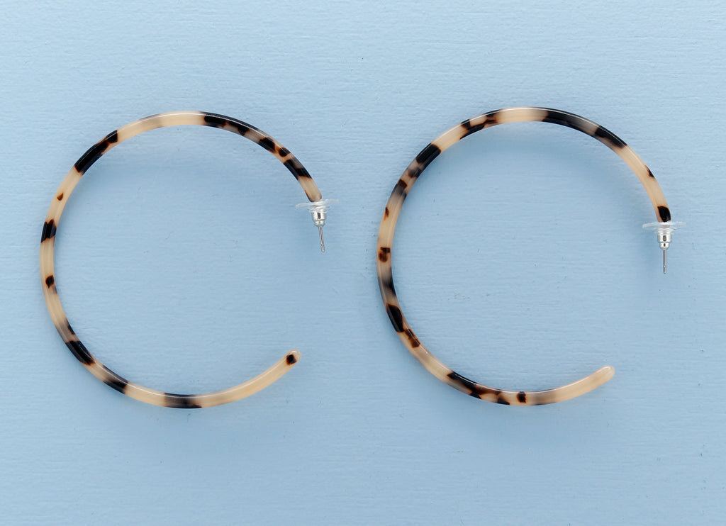 Marble Thing Hoop Earrings