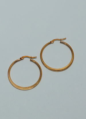 Flat Golden Hoops