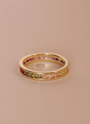 Rainbow Stone Ring XI