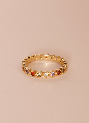 Rainbow Stone Ring IX