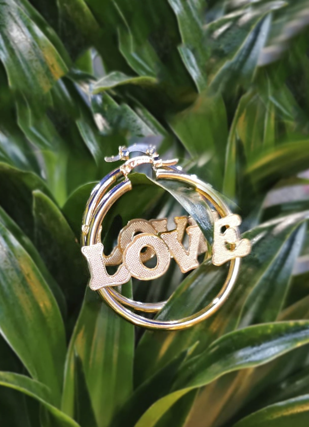 """Love"" earrings"