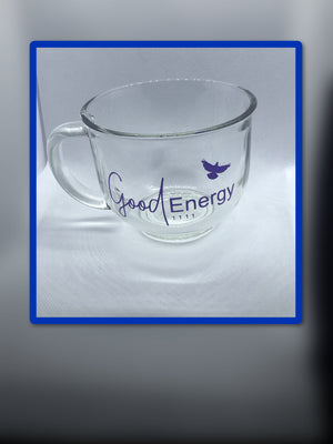 Good Energy 1111 Logo Mug ( Blue Glass)