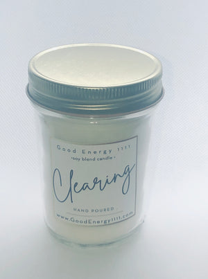 """Clearing""  Sage Energy 1111 Candle"