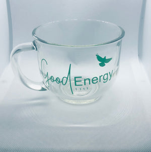 Good Energy 1111 Logo Mug (Green Glass)