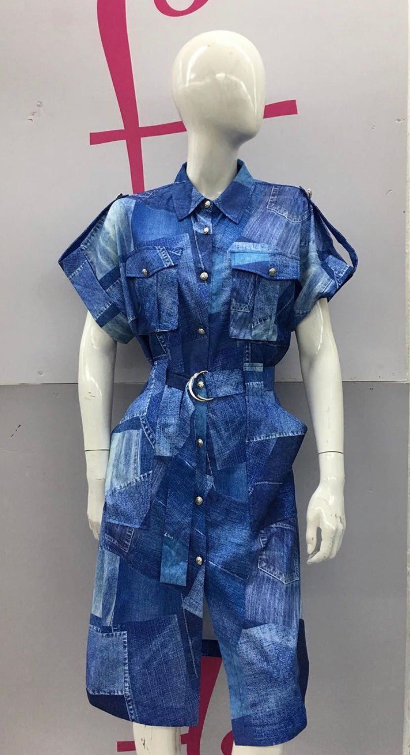 Solange Denim Dress