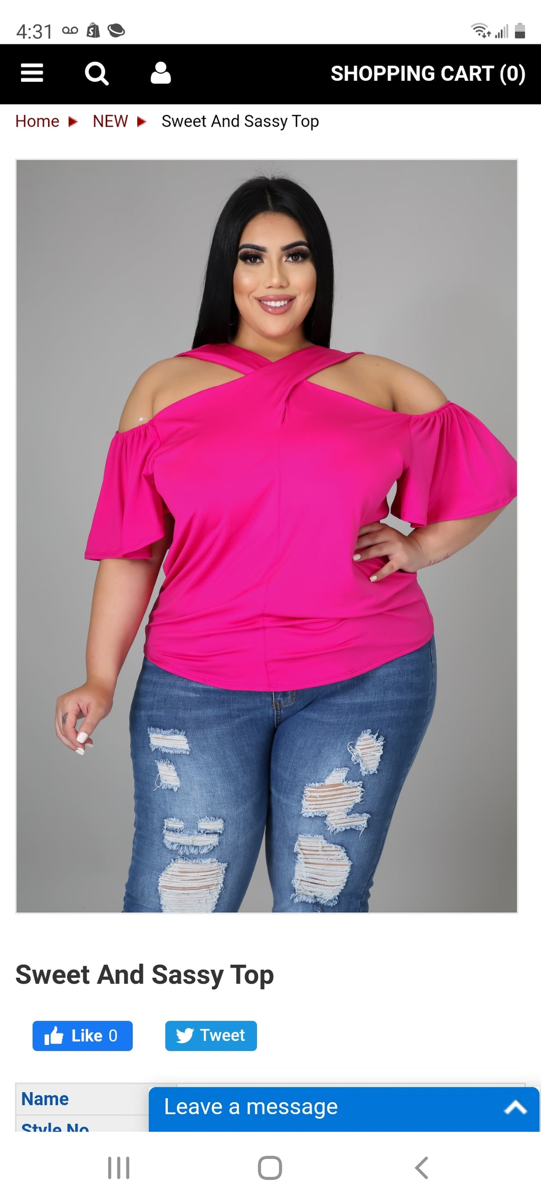 Sweet and Sassy top