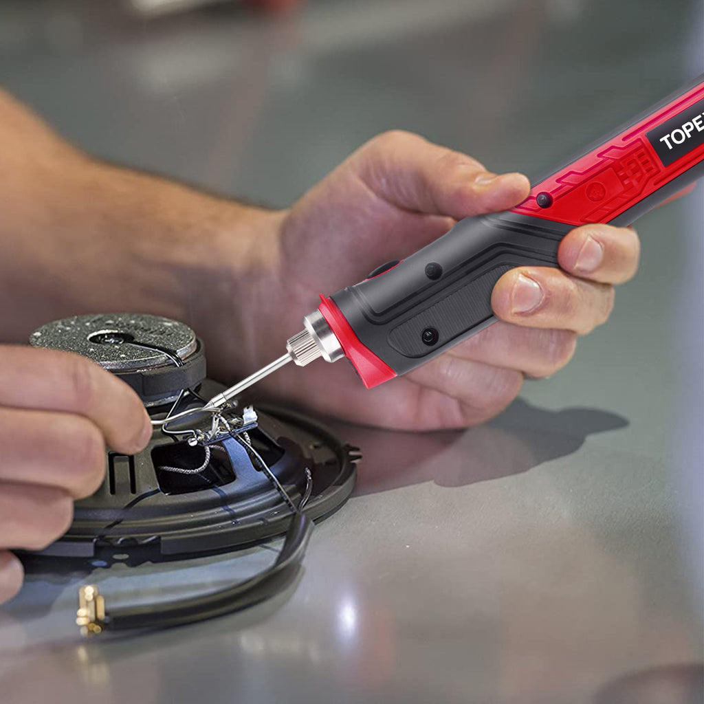 TOPEX 4V Max Cordless Soldering Iron with Rechargeable Lithium-Ion Battery