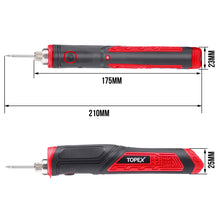 Load image into Gallery viewer, TOPEX 4V Max Cordless Soldering Iron with Rechargeable Lithium-Ion Battery