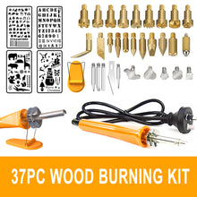 Load image into Gallery viewer, 35PC 30W Wood Burning Pen Set Electric Soldering Iron Kit Iron Burner Hobby Kit