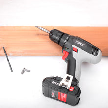 Load image into Gallery viewer, TOPEX 20V Max Lithium Ion Cordless Drill Driver Screwdriver with Battery Charger