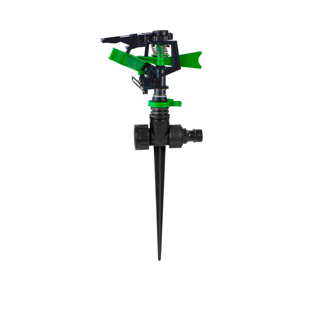 4x Lawn Sprinkler Impact on Spike Adjustable Pattern Spray Grass Garden Watering