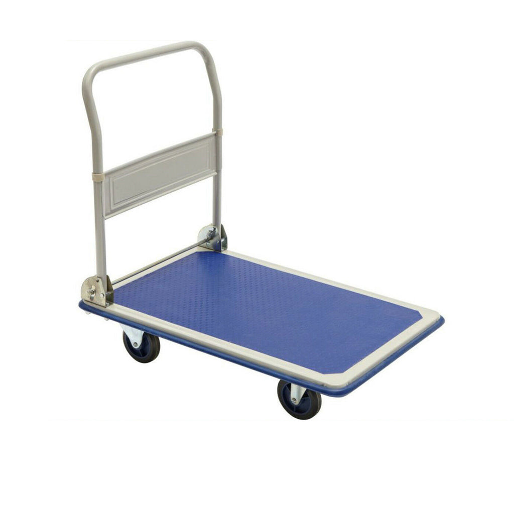 Platform Trolley 150KG Industrial Flat Bed Foldable Hand Truck Cart