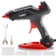 Load image into Gallery viewer, Topex 100W Hot Glue Gun Fast Preheating w/ 10 PCs Premium Glue Sticks