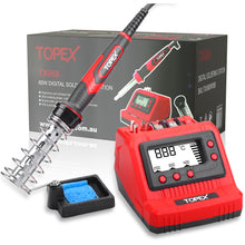 Load image into Gallery viewer, TOPEX 60W digital soldering Iron Station Solder Fast Heat Variable Temperature LED Display