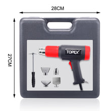 Load image into Gallery viewer, TOPEX Heat Gun Hot Air Heating Tool Kit Dual Speed w/ 5 Accessories Storage Case