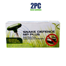 Load image into Gallery viewer, 2PCs Snake Repeller Quality Solar MultiPulse Ultrasonic Pest