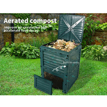 Load image into Gallery viewer, 290L Compost Bin Food Waste Recycling Composter Kitchen Garden Composting Green