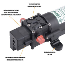 Load image into Gallery viewer, TOPLAND 12V Portable Diaphragm Water Pump with Safety Accessories Pressure Self Priming