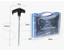 Load image into Gallery viewer, 20Pcs Tent Pegs Heavy Duty Screw Steel In Ground Camping Stakes Outdoor Canopy