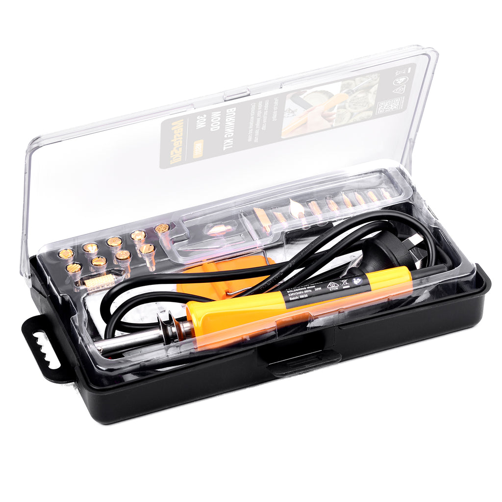 35PC 30W Wood Burning Pen Set Electric Soldering Iron Kit Iron Burner Hobby Kit