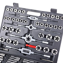 Load image into Gallery viewer, TOPEX 118-Piece Metric Tap and Die set Screw Thread Drill Repair Kit M2-M18