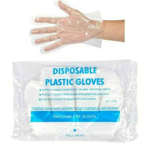 100 x EXTRA STRONG Disposable Polythene Gloves