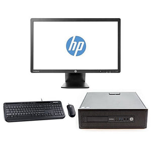 HP EliteDesk 800 G1 SFF and EliteDisplay E231 23 Inch FHD Monitor Bundle