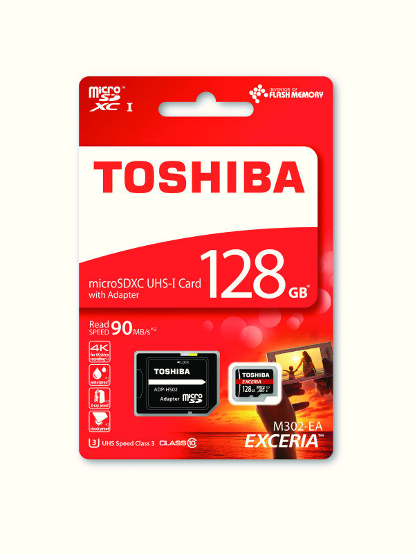 Toshiba 128GB EXCERIA M302 4k 90MBPS Micro SD With Adapter