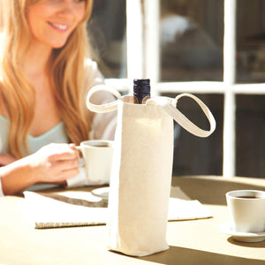 SHOPPING BAG - Fairtrade Cotton Bottle Bag