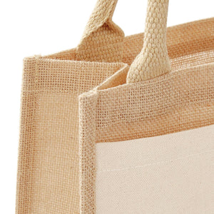 Borsa Cotton Pocket Jute Midi Tote