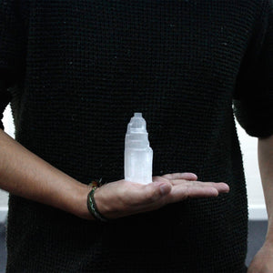 Torre in Selenite - 10 cm