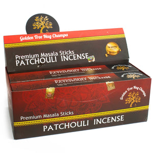 12x Golden Tree Nag Champa - Patchouli