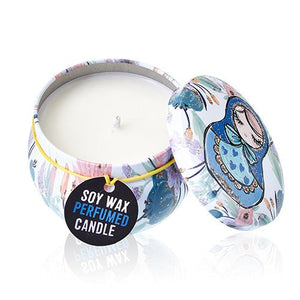 Candele in cera di soia in lattina - 120g DOLLY BLUE
