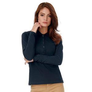 Polo da donna a maniche lunghe set-in B&C COLLECTION