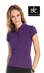 Polo da donna a maniche corte set-in B&C COLLECTION