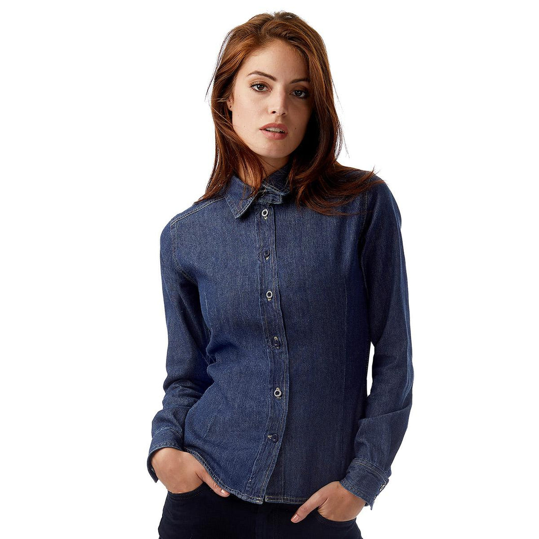 Camicia donna in denim  B&C COLLECTION
