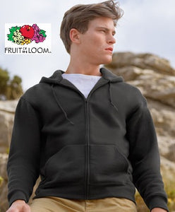 Fruit of the loom felpa uomo cappuccio e zip