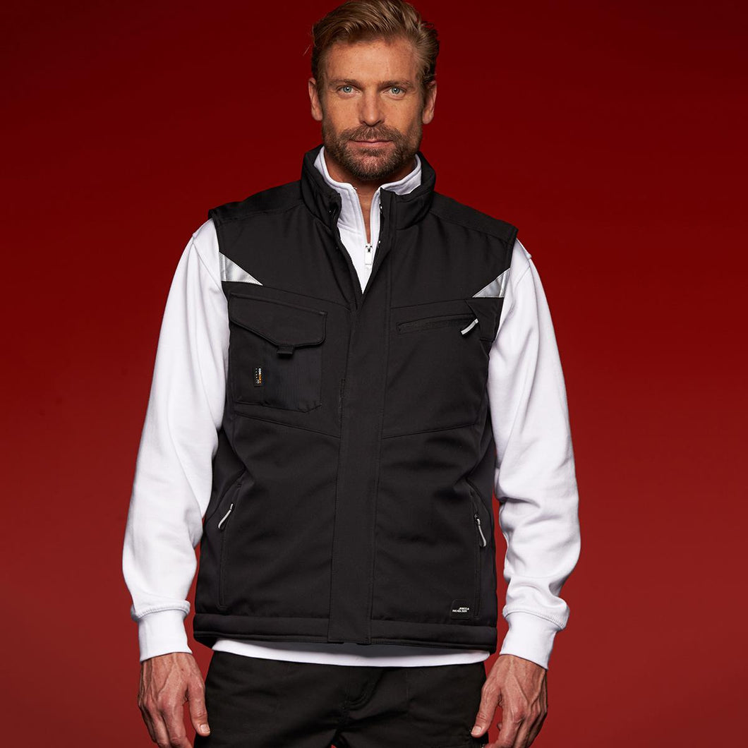 Gilet in softshell  JAMES&NICHOLSON 4XL,5XL,6XL
