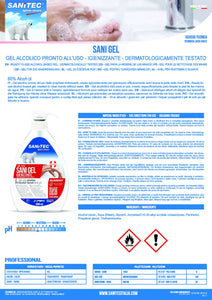 SANI GEL - GEL ALCOLICO PRONTO ALL'USO 600 ML