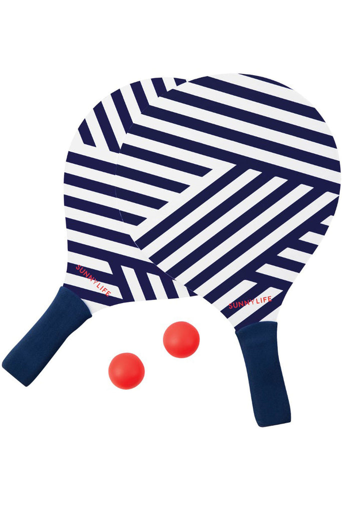 SUNNYLIFE MONTAUK BEACH GAME BAT & BALL SET