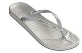 Ipanema beach Brazilian flipflops in silver  - SALE - Coastal Culture Abersoch