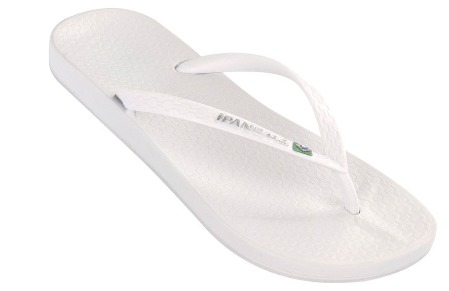 Ipanema beach Brazilian flipflops in white  - SALE - Coastal Culture Abersoch