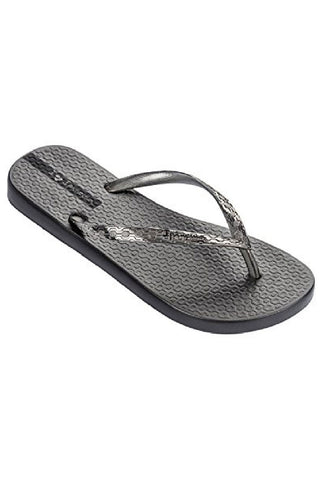 IPANEMA GLAM PEWTER FLIPFLOPS FROM BRAZIL