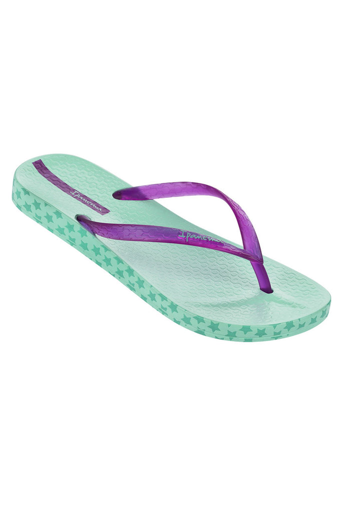 Ipanema Impresso Stars turquoise flipflops. Next day delivery.