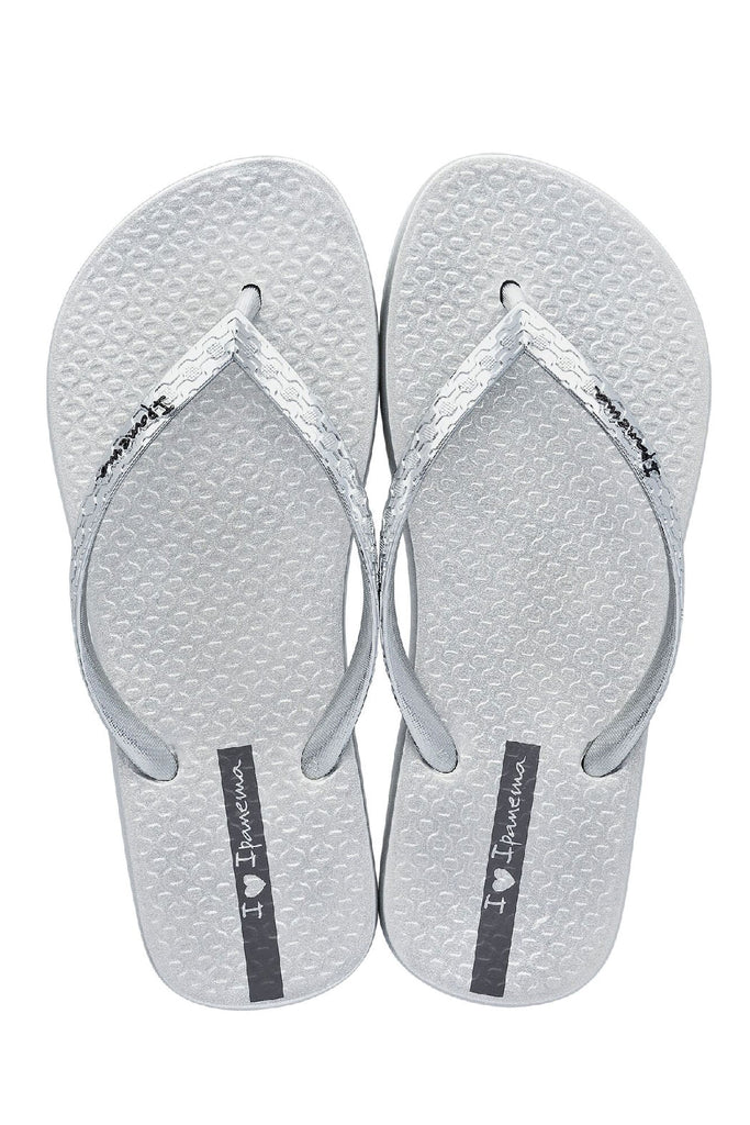 IPANEMA LADIES GLAM FLIPFLOPS - SILVER