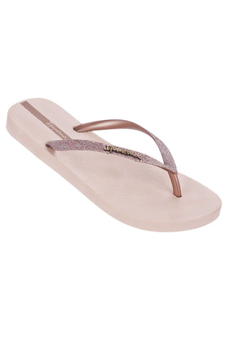 IPANEMA LADIES SPARKLE FLIPFLOPS IN BLUSH PINK