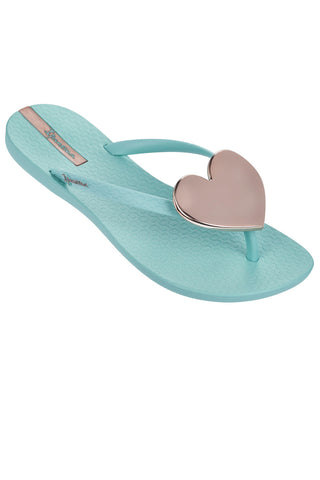 IPANEMA WAVE HEART FLIPFLOPS IN BLUE ROSE GOLD