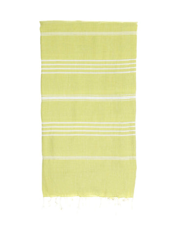 TURKISH HAMMAN TOWEL / LIME