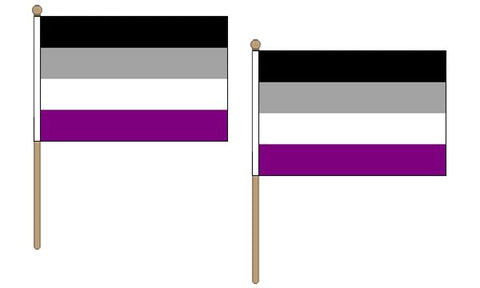 Asexual Hand Flags ( pack of 2 )